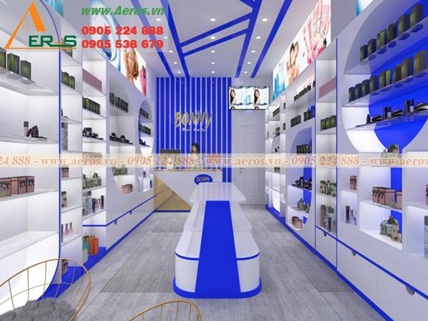 Thiết kế shop mỹ phẩm theo phong cách hiện đại